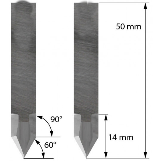 Blade SMRE compatible - Z44 - Max. cutting depth a 14 mm