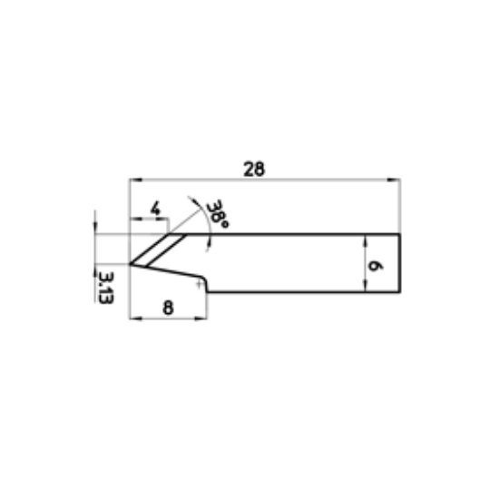 Blade 301815 - Max. cutting depth 2 mm