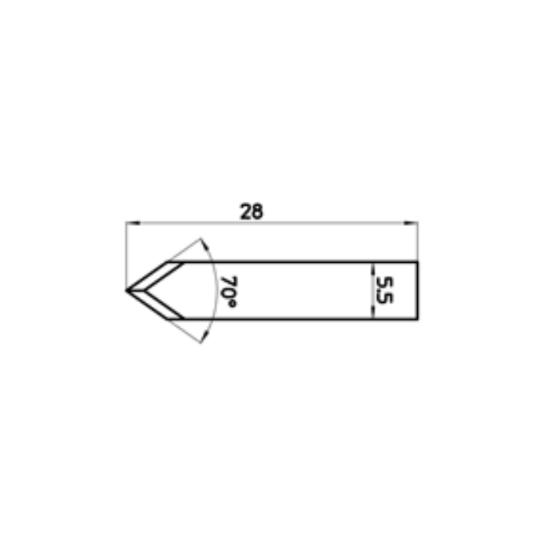 Blade Lasercomb compatible - 301816 - Max. cutting depth 2.9 mm