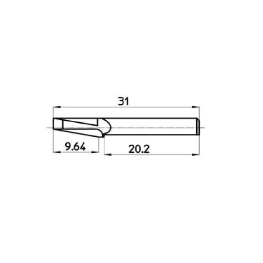 Blade 42424 Talamonti compatible - Max. cutting depth 9.64 mm