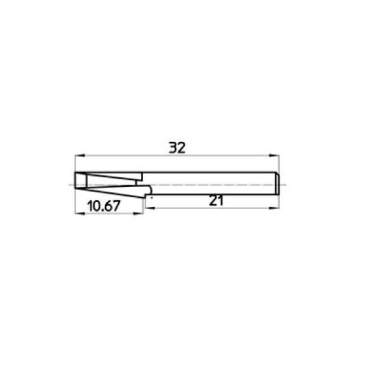 Blade 43438 Talamonti compatible - Max. cutting depth 10.67 mm