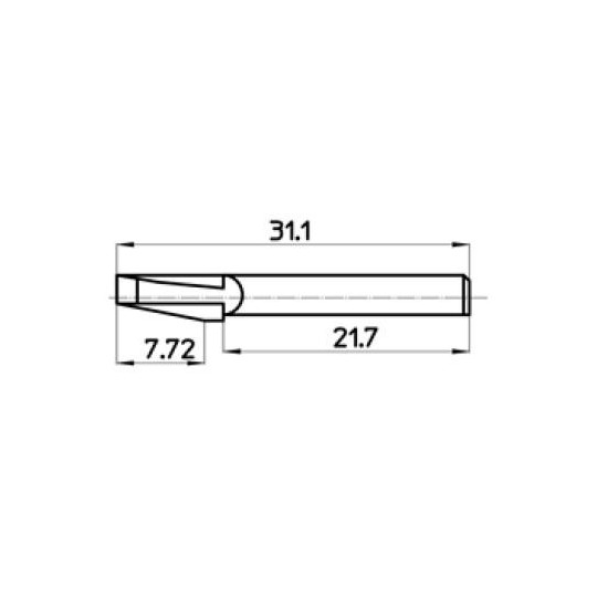 Blade 44797 Talamonti compatible - Max. cutting depth 7.72 mm