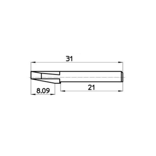Blade 44798 Talamonti compatible - Max. cutting depth 8.09 mm