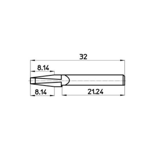Blade 44877 Talamonti compatible - Max. cutting depth 8.14 mm