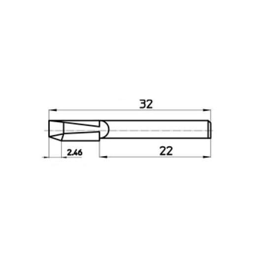 Blade 45860 Talamonti compatible - Max. cutting depth 2.46 mm