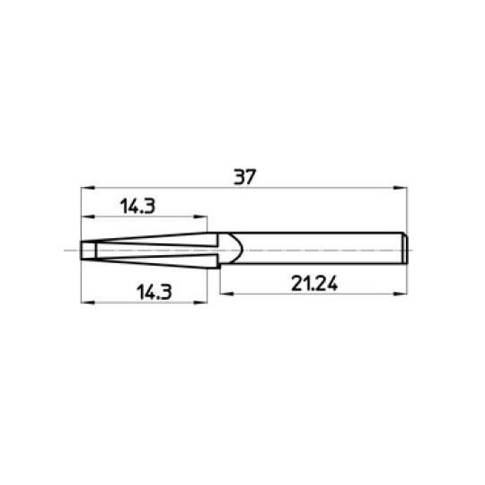 Blade 46585 Talamonti compatible - Max. cutting depth 14.3 mm