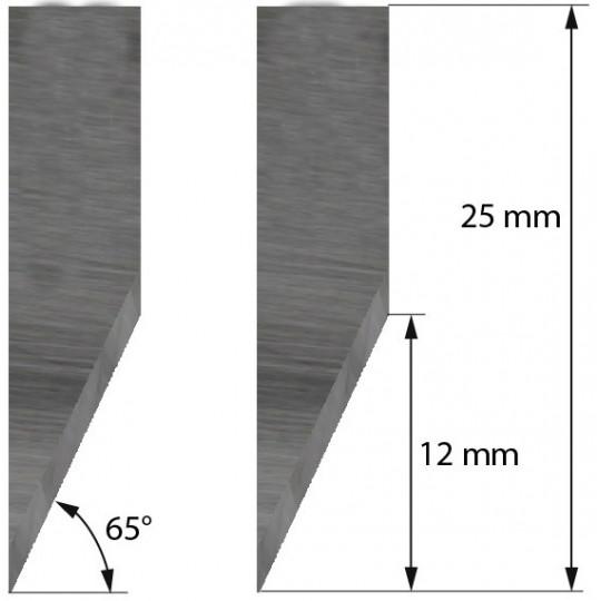 Blade Single Edge Cutout 65° 500-9801 Summa compatible - Z17 - Max. cutting depth 6 mm