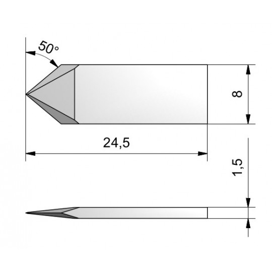 Blade double edge cutout 50° 500-9802 Summa compatible - CE112 - Max. cutting depth 3 mm