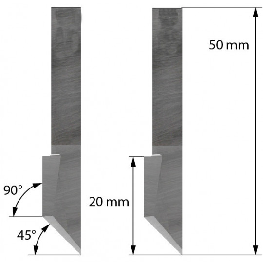 Blade Heavy Duty Cutout 45° - 90° 500-9807 - Z46 - Max cutting depth 15 mm