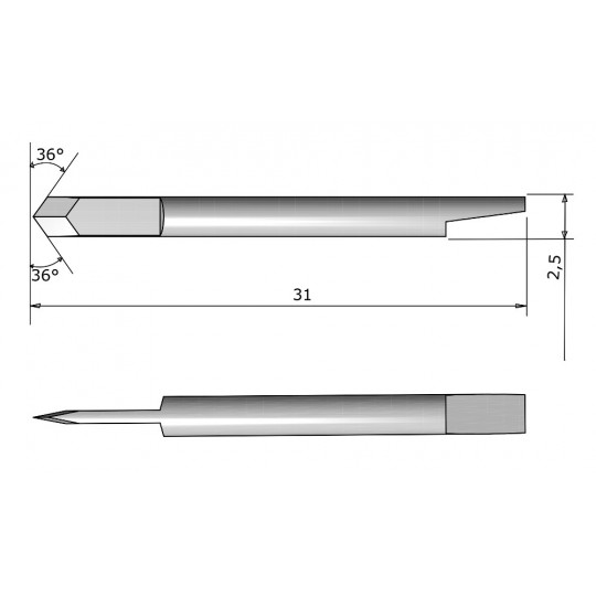 Tangential blade double tips 390-551 Summa compatible - CE138032 - Max. cutting depth 0.25 mm