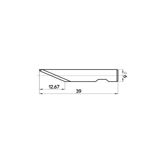 Blade 45266 - Max. cutting depth 13.0 mm