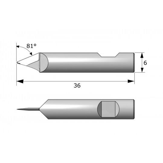 Blade 142125 - Max. cutting depth 6 mm