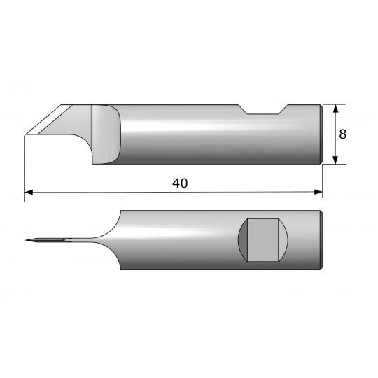 Blade 8172 - Max. cutting depth 6.5 mm