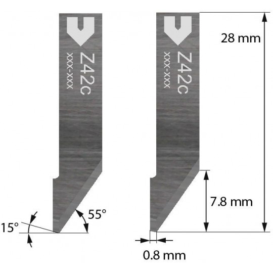 Blade Iecho compatible - Z42C - Max. cutting depth 7.8