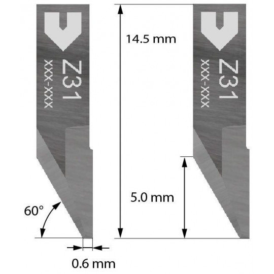 Blade Iecho compatible - Z31 - Max. cutting depth 2.0 mm