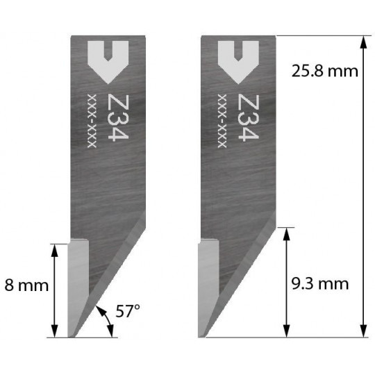 Blade Iecho compatible - Z34 - Max. cutting depth 5 mm