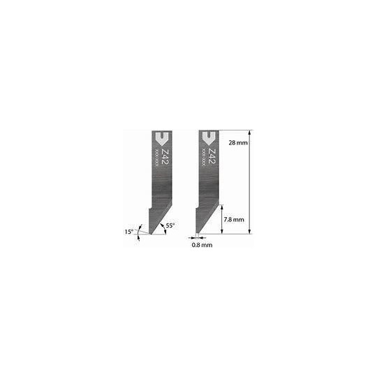 Blade Iecho compatible - Z42 - Max. cutting depth 7.8 mm