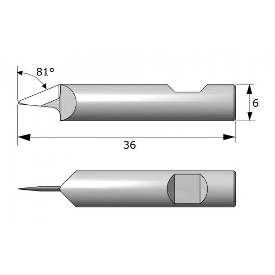 Blade 7275  - Max. cutting depth 6 mm