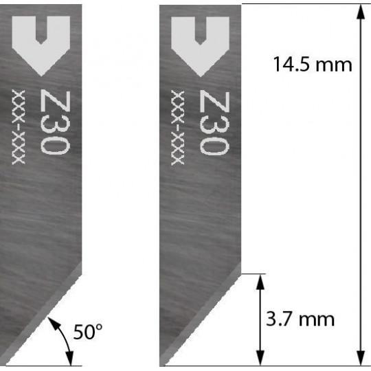 Blade Iecho compatible - Z30 - Max. cutting depth 2 mm