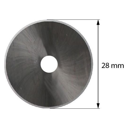 Blade Iecho compatible - Z55 - Max. cutting depth 1 mm - ø 28 mm - ø inside hole 8 mm