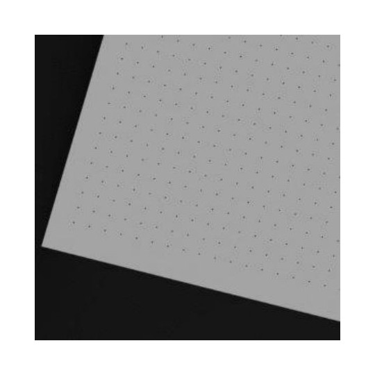 Micro-perforated carpet on white PVC from 3 mm - Dim 1200 x 1270 - For 410 E
