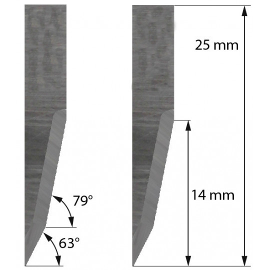 Blade Delta Diemaking compatible  - Z22 - Max. cutting depth 14 mm