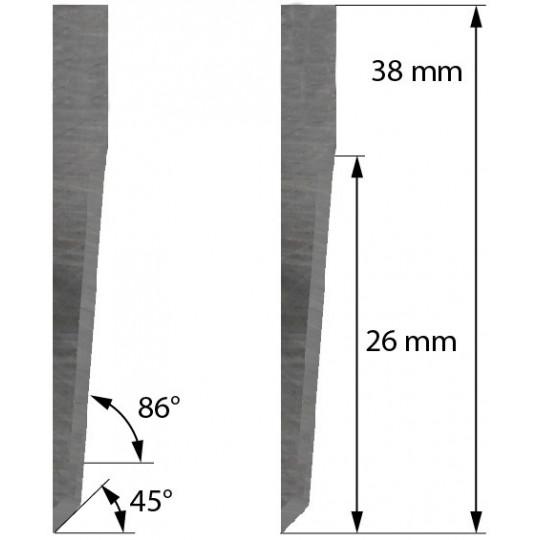 Blade Delta Diemaking compatible - Z28 - Max. cutting depth 26 mm