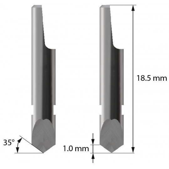 Blade Balacchi compatible- Z3 - Max. cutting depth 1 mm