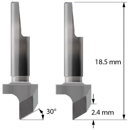 Blade 3910154 - W6 - Max cutting depth 2.4 mm - Balacchi compatible