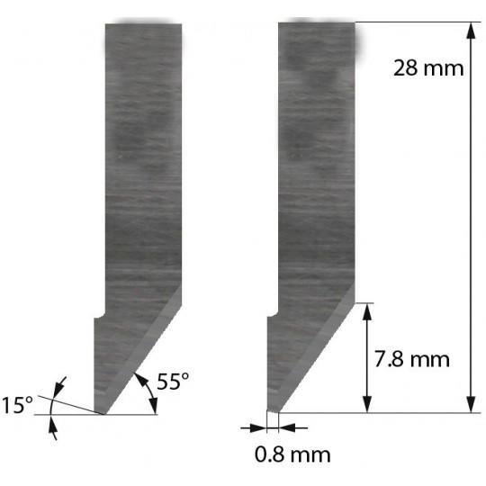 Blade Balacchi compatible - Z42C - Max. cutting depth 7.8 mm