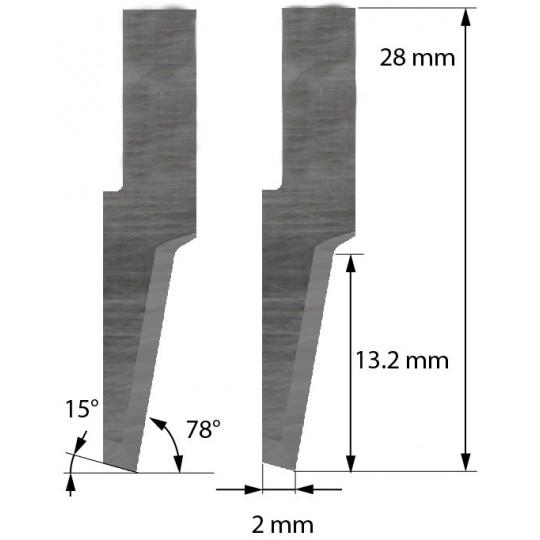 Blade Balacchi compatible - Z62 - Max. cutting depth 13.2 mm