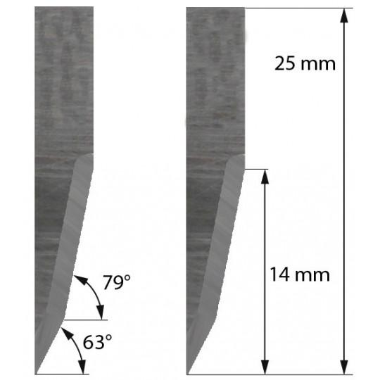 Blade Balacchi compatible  - Z22 - Max. cutting depth 14 mm