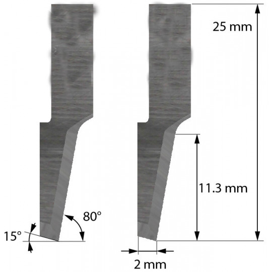 Blade Balacchi compatible - Z41 - Max. cutting depth 11.3 mm