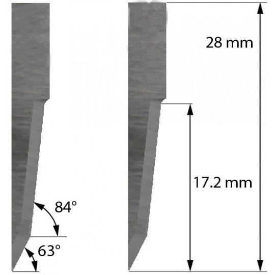 Blade Balacchi compatible - Z21 - Max. cutting depth 17.2 mm