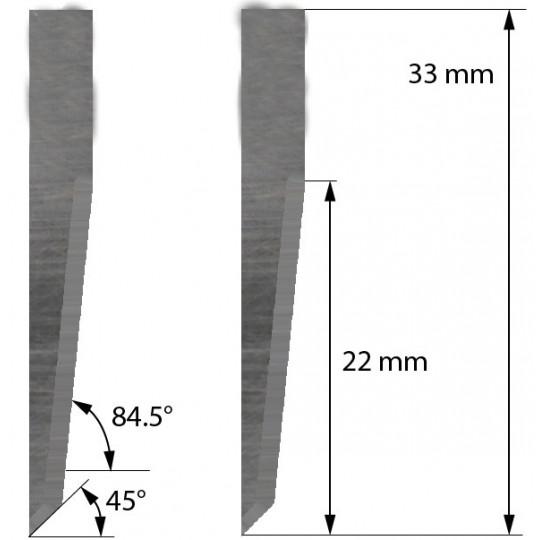 Blade Balacchi compatible - Z23 - Max. cutting depth 22 mm