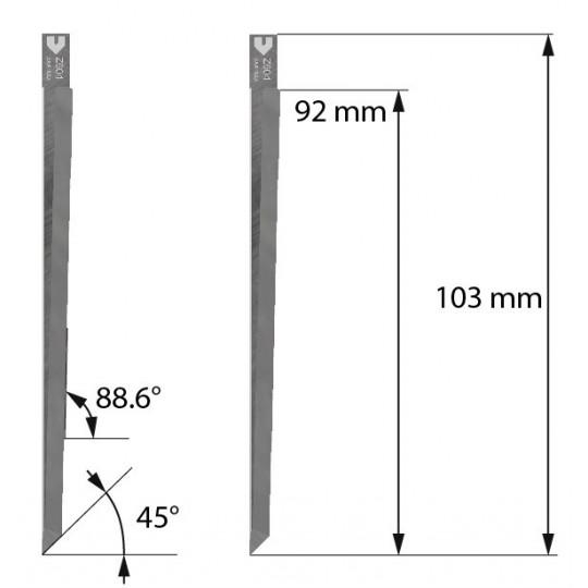 Blade Z604 Balacchi compatible - Max. cutting depth 91.5 mm