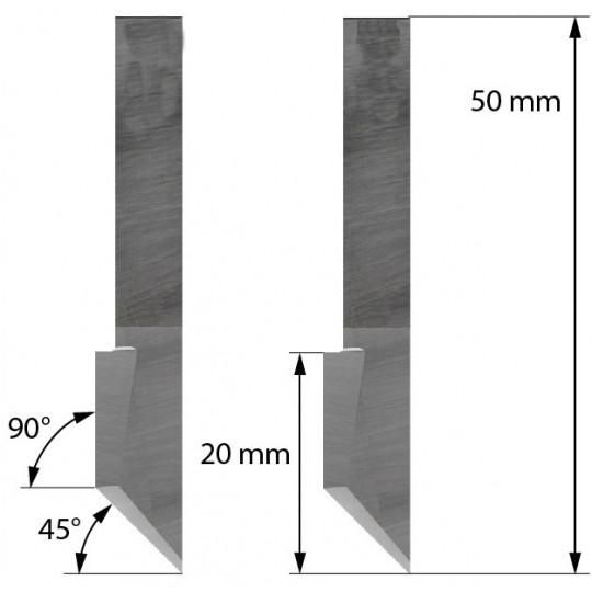 Blade Balacchi compatible - Z46 - Max. cutting depth 20 mm
