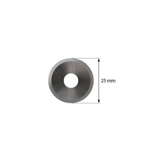 Blade SCM compatible - Z53 - Max. cutting depth 2,0 mm - ø 25 mm - ø inside hole 8 mm