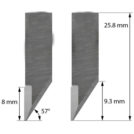 Blade Dyss compatible - Z34 - Max. cutting depth 5 mm