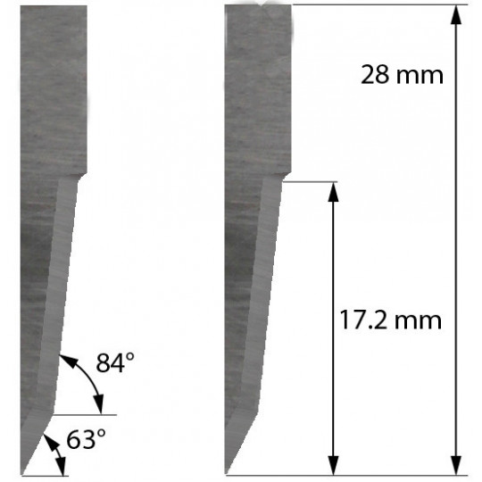 Blade Dyss compatible - Z21 - Max. cutting depth 17.2 mm
