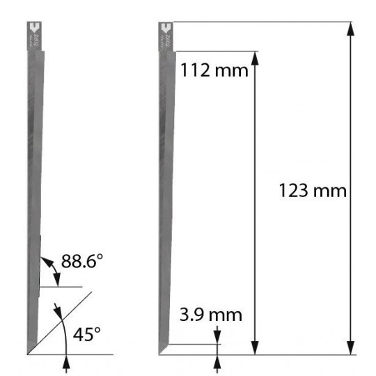 Blade Dyss compatible - Z602 - Max. cutting depth 112 mm