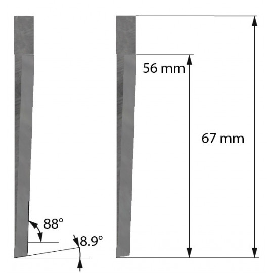 Blade Z607 Balacchi compatible - Max. cutting depth 56 mm