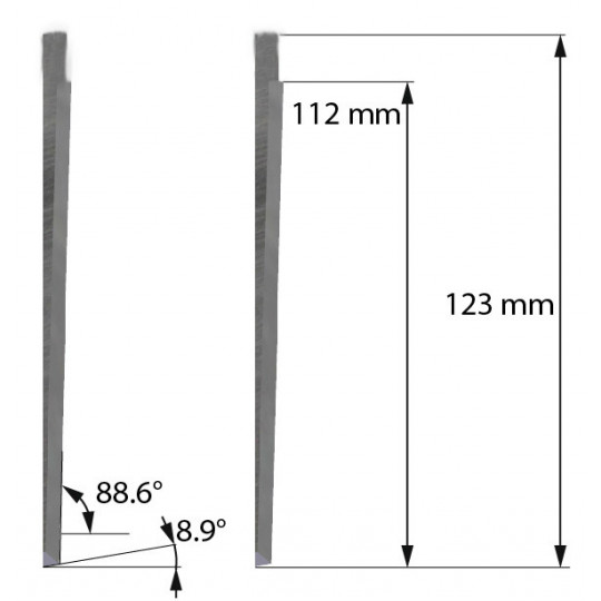 Blade Dyss compatible - Z601 - Max. cutting depth 112 mm