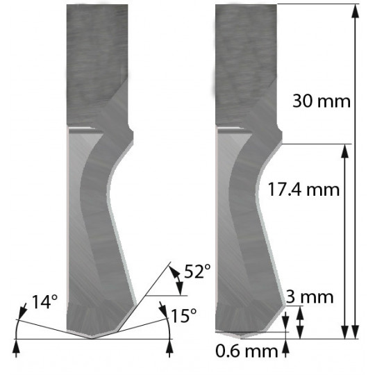 Blade Dyss compatible - Z201 - Max. cutting depth  16 mm