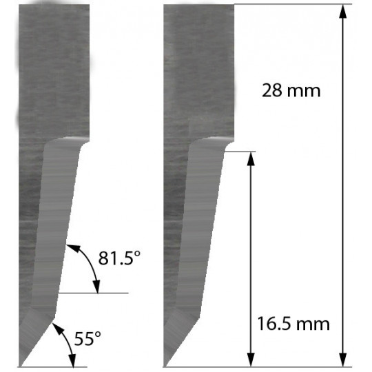 Blade Balacchi compatible - Z60 - Max. cutting depth 16.5 mm