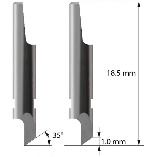 Blade 3910105 - Z1 - Max cutting depth 1 mm - Aoke compatible