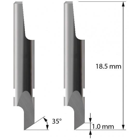 Blade 3910110 - Z2 - Max. cutting depth 1 mm - Aoke-Kasemake compatible