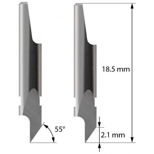 Blade - 3910116 - Z4 - Max. cutting depth  2,1 mm - Aoke compatible