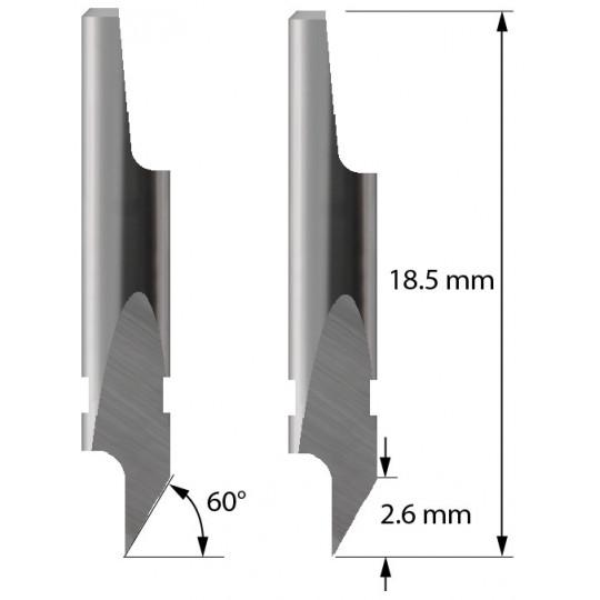 Blade 3910117 - Z5 - Max cutting depth 2.6 mm - Aoke Kasemake compatible
