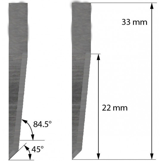 Blade Aoke-Kasemake compatible - Z23 - Max. cutting depth 22 mm
